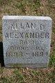 Profile photo:  Allan D. Alexander