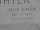 Profile photo:  Alice Slayton Slaughter