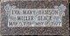 Eva Mary <I>Hamson</I> Miller Black