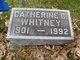 Catherine <I>Conway</I> Whitney