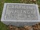 Carrie M Whitney
