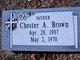 Profile photo:  Chester Arthur Brown