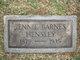 Jennie <I>Barnes</I> Hensley