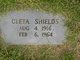 Profile photo:  Cleta Shields