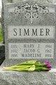 "Mary Jane ""Mame"" <I>Ryan</I> Simmer"