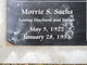 Profile photo:  Morrie S Sachs