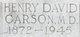 Dr Henry David Carson