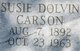 Susan <I>Dolvin</I> Carson