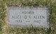 Profile photo:  Alice Q V Allen