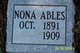 Profile photo:  Nona Ables
