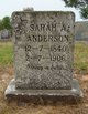Profile photo:  Sarah A. <I>Farley</I> Anderson