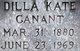 """Profile photo:  Dilla Orcady """"Kate"""" <I>Barlow</I> Canant"""
