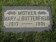 Mary Jane <I>Parker</I> Butterfield