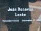 Joan Donovan Leeke