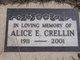 Profile photo:  Alice E <I>Bell</I> Crellin