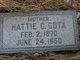 Hattie G <I>Waite</I> Cota