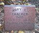 Mary E <I>Patchel</I> Chalker