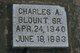 Charles A Blount, Sr