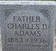 Profile photo:  Charles D. Adams