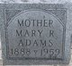 Profile photo:  Mary Russell <I>McElroy</I> Adams