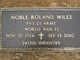 Rev Noble Roland Wiles