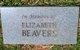 """Profile photo:  Elizabeth """"Lizzie"""" <I>Rice</I> Beavers"""