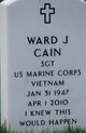 """Ward Joseph """"Joe"""" Cain"""
