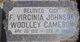 """Frances Virginia """"Gigi"""" <I>Johnson</I> Cameron"""