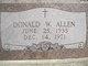 Donald W Allen