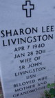 Sharon Lee <I>Ruzic</I> Livingston