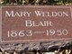 Profile photo:  Mary <I>Weldon</I> Blair
