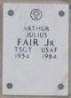Profile photo: Sergeant Arthur Julius Fair, Jr