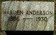 Fielden Harden Anderson