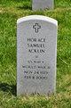 Profile photo:  Horace Samuel Acklin