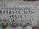 Profile photo:  Barbara Jean Arnold