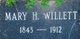 Mary H. <I>Holzhausen</I> Willett