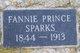 Fannie <I>Prince</I> Sparks
