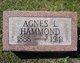 Profile photo:  Agnes <I>Lawrence</I> Hammond