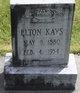 """Profile photo:  Elton """"Bud"""" Kays"""