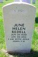 June Helen <I>Westlund</I> Redell