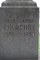 Profile photo:  Lillie <I>Carter</I> Churchill