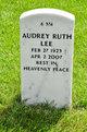 Profile photo:  Audrey Ruth Lee