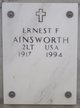 Profile photo:  Ernest F Ainsworth