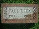 Profile photo:  Paul T. Fox