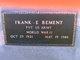 Pvt Frank Edward Bement