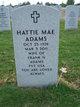 Profile photo:  Hattie Mae <I>Roberts</I> Adams