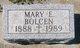 Mary Elizabeth <I>Schneider</I> Bolcen