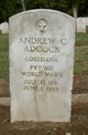 Profile photo:  Andrew Carl Adcock