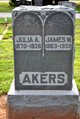 Profile photo:  Julia A Akers