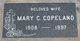 Mary Clara <I>Reichert</I> Copeland